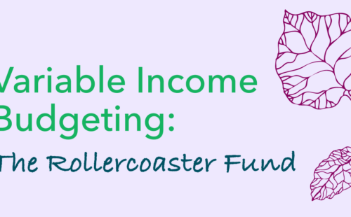 graphic image of rollercoaster fund budgeting tool