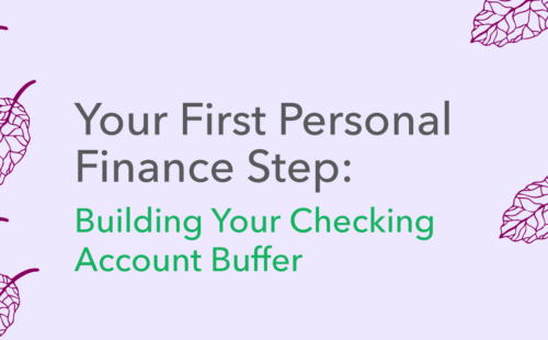graphic building a checking account buffer